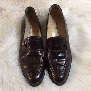 Ann Taylor Loafers Leather Chocolate Brown Shoes